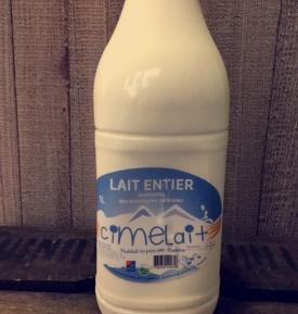 Lait entier de vache (1L)