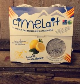 Yaourt de Vache saveur Citron (4 x 125 g)